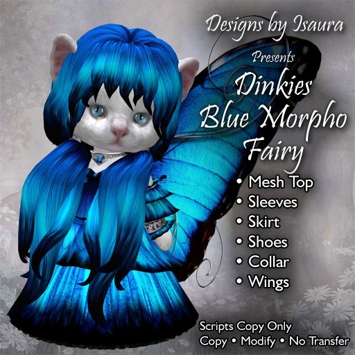 Dinkies Blue Morpho Fairy