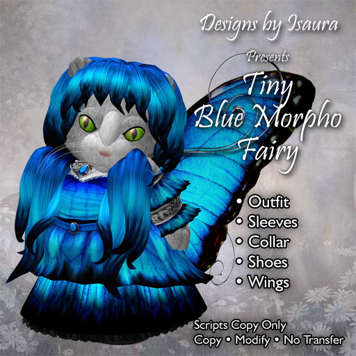 Tiny Blue Morpho Fairy