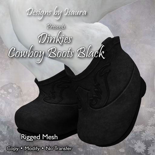 Dinkies Cowboy Boots Black