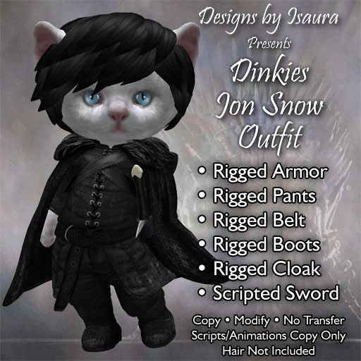 Dinkies Jon Snow Outfit