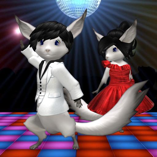 Roo Disco Queen and Dancing Man