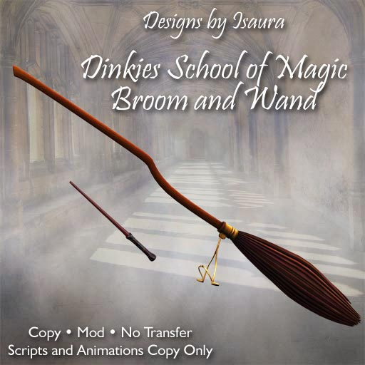 Dinkies School of Magic Broom and Wand