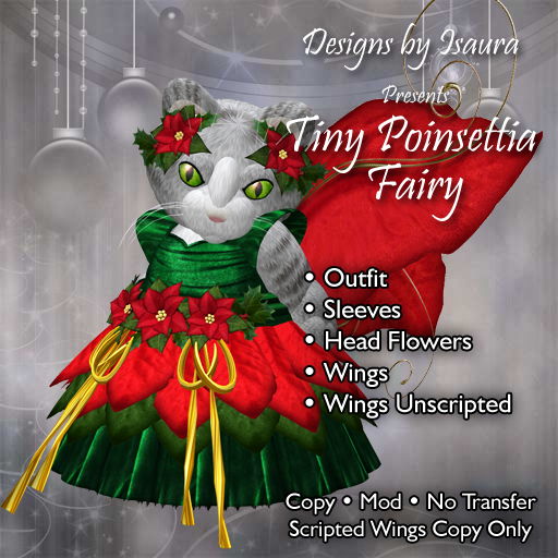 Tiny Poinsettia Fairy