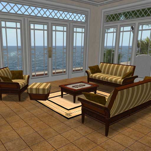 mahogany living room set